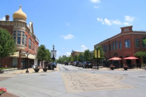 Photo of downtown Plainfield on a sunny day for an article all about the town.