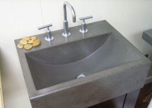 Photo of a trough sink for an article on kitchen and bath design trends for 2017.