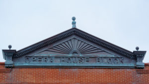 Photo of the Opera House Block in downtown plainfield for an article about the town.