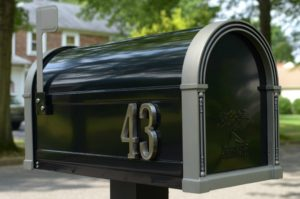 Photo of a new mail box for an article on curb appeal.