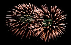 Photo of fireworks for an article about local fireworks displays.