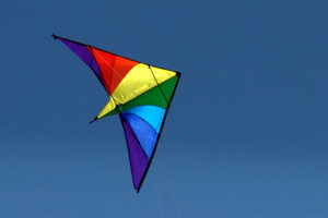 Photo of a kite flying for an article about the Shorewood Kite Fest.