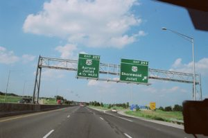 Photo of a highway sign for Shorewood Illinois for an article listing facts and history about the town.