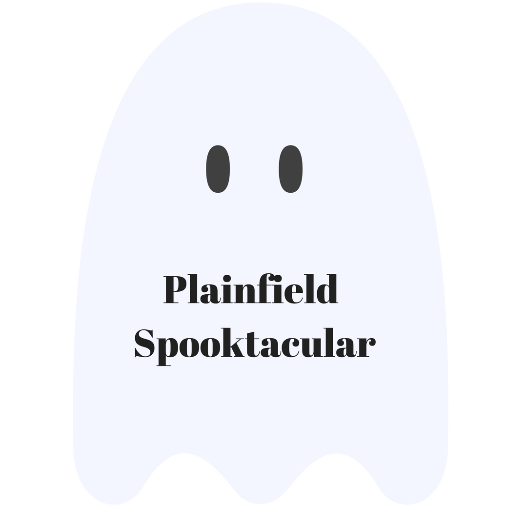 Illustration of a ghost for an article about the Plainfield Spooktacular event.