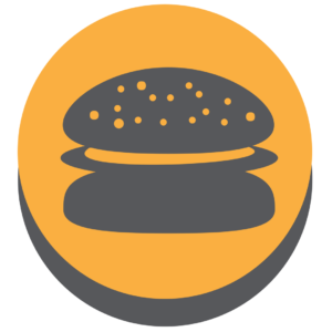 Illustration of a hamburger for an article about Plainfield Restaurant Week.