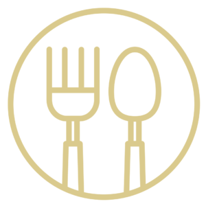 Illustration of a knife and fork for an article about Plainfield Restaurant Week.